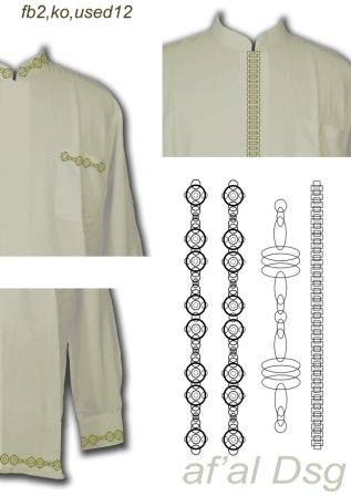 Contoh Motif Bordir Baju Koko Baju Gamis