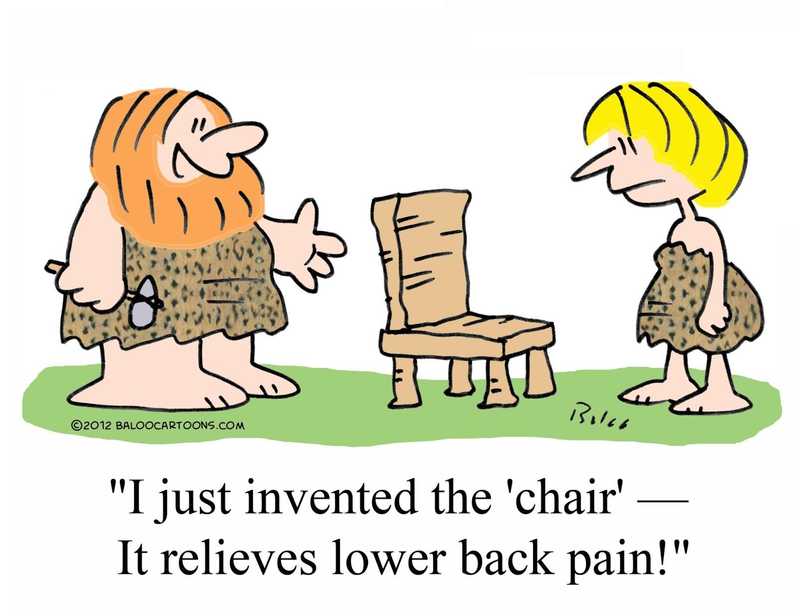 cartoon back pain: