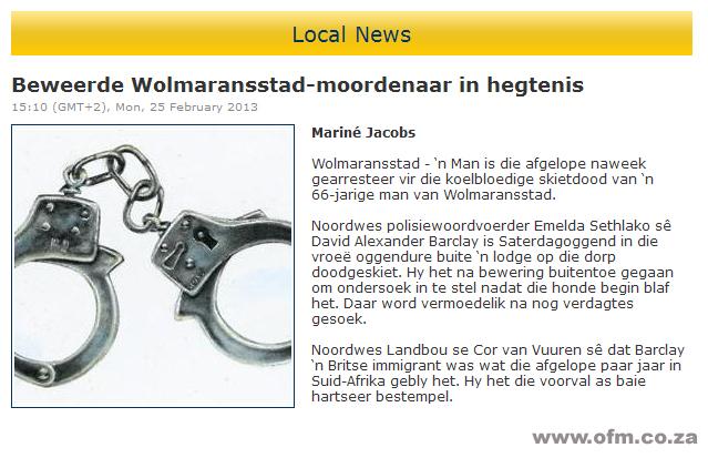 Wolmaransstad Moord