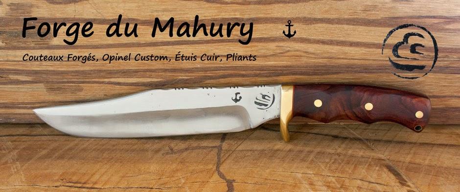 FORGE  DU   MAHURY   Couteaux forgés, Opinel custom, étuis cuirs...