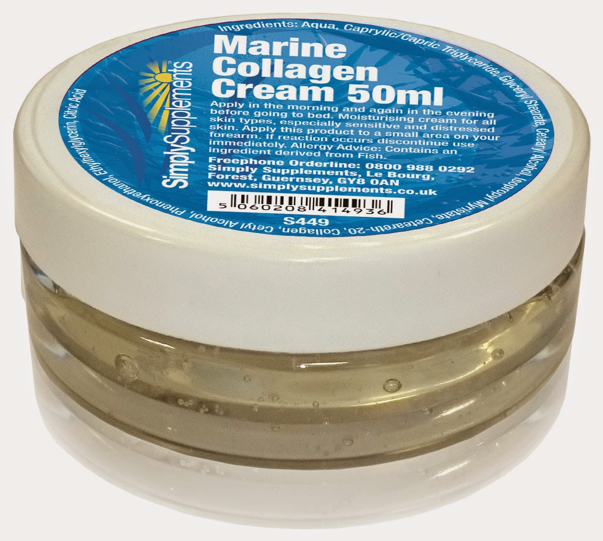 Marine Collagen cream by Simply Supplements