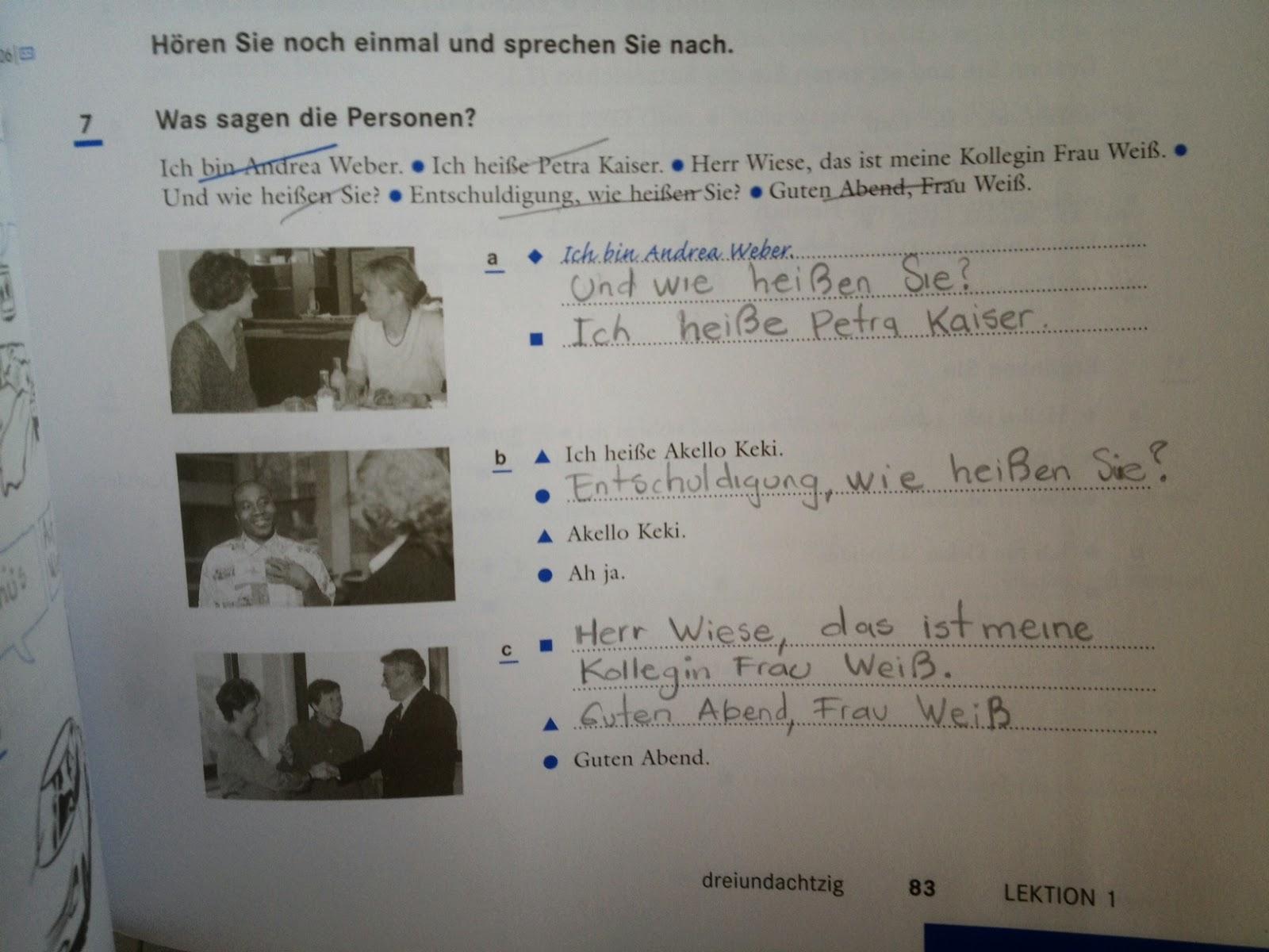 Arbeitsblatt 1 | Einführung in Deutsch (Introducción en alemán)
