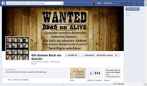 https://www.facebook.com/GibDeinemBuchEinGesicht
