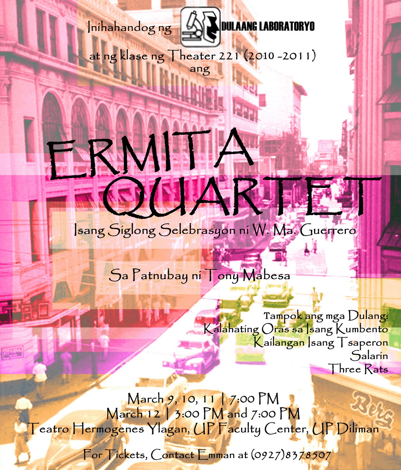 the summary of the three rats by wilfrido guerero http://gibbscadiz.blogspot.com/2011/03/ermita-quartet-four-one-act-plays-by.html