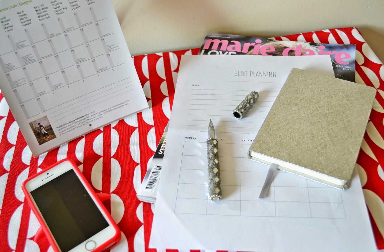 Tips for New Bloggers with Blog Calendar - Aspiring Londoner