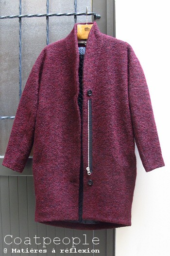 Manteau laine bordeaux Coatpeople