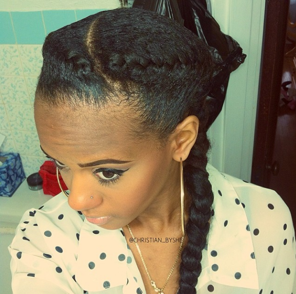 Swell I Love Goddess Braids Here39S How I Install Them Natural Hair Hairstyle Inspiration Daily Dogsangcom