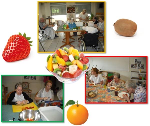 Animation ehpad vic le comte 63 repas th rapeutique la salade de fruits - Cuisine therapeutique ehpad ...