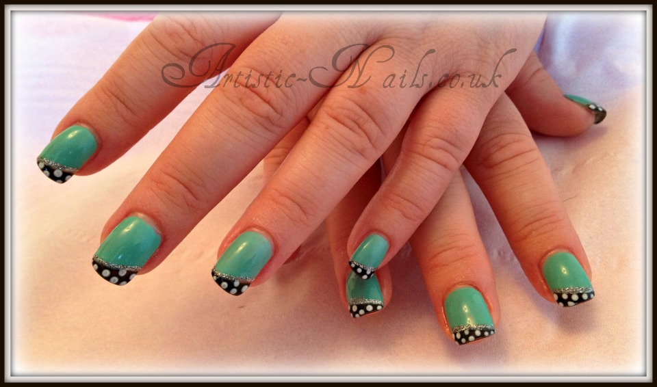 Artistic Nails Poole UK: Gelish in A Mint Of Spring in Polka Dot ...