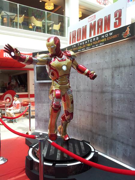 entertainer ironman exhibition at bugis junction