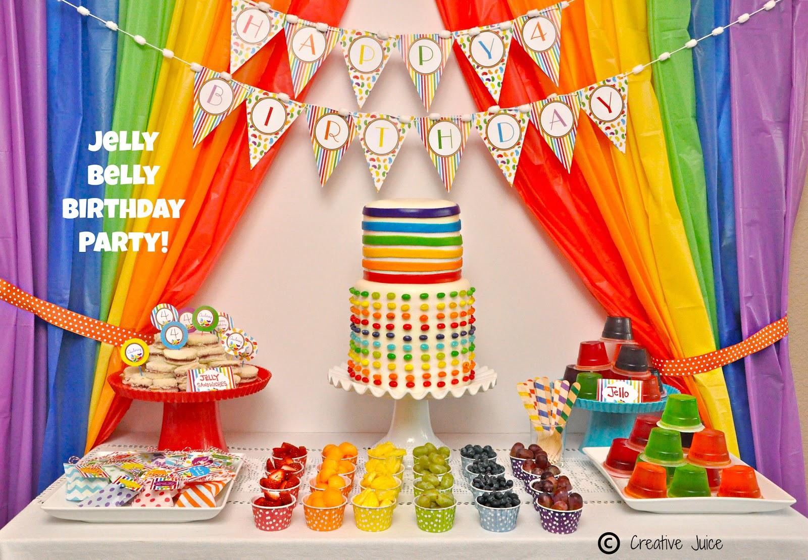 PARTIES rainbow jelly bean birthday party Creative Juice