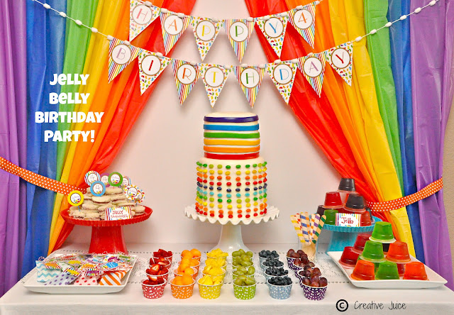 RAINBOW JELLY BEAN BIRTHDAY PARTY by Creative Juice