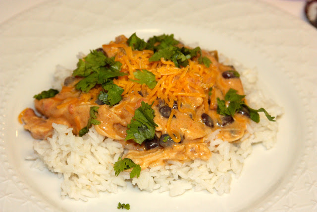 Creamy Salsa Crockpot Chicken