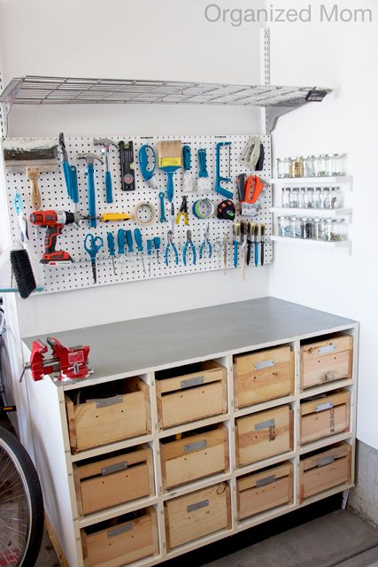 Simple Workbench In Garage