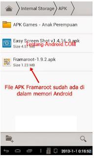 Cara Root Tablet Advan E1C, E1C+ dan E1C Pro versi JB