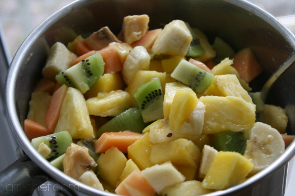 tropical fruit for Grilled Brie with Tropical Fruit Compote by @girlichef