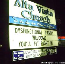 when religion fails: The Dysfunctional Church