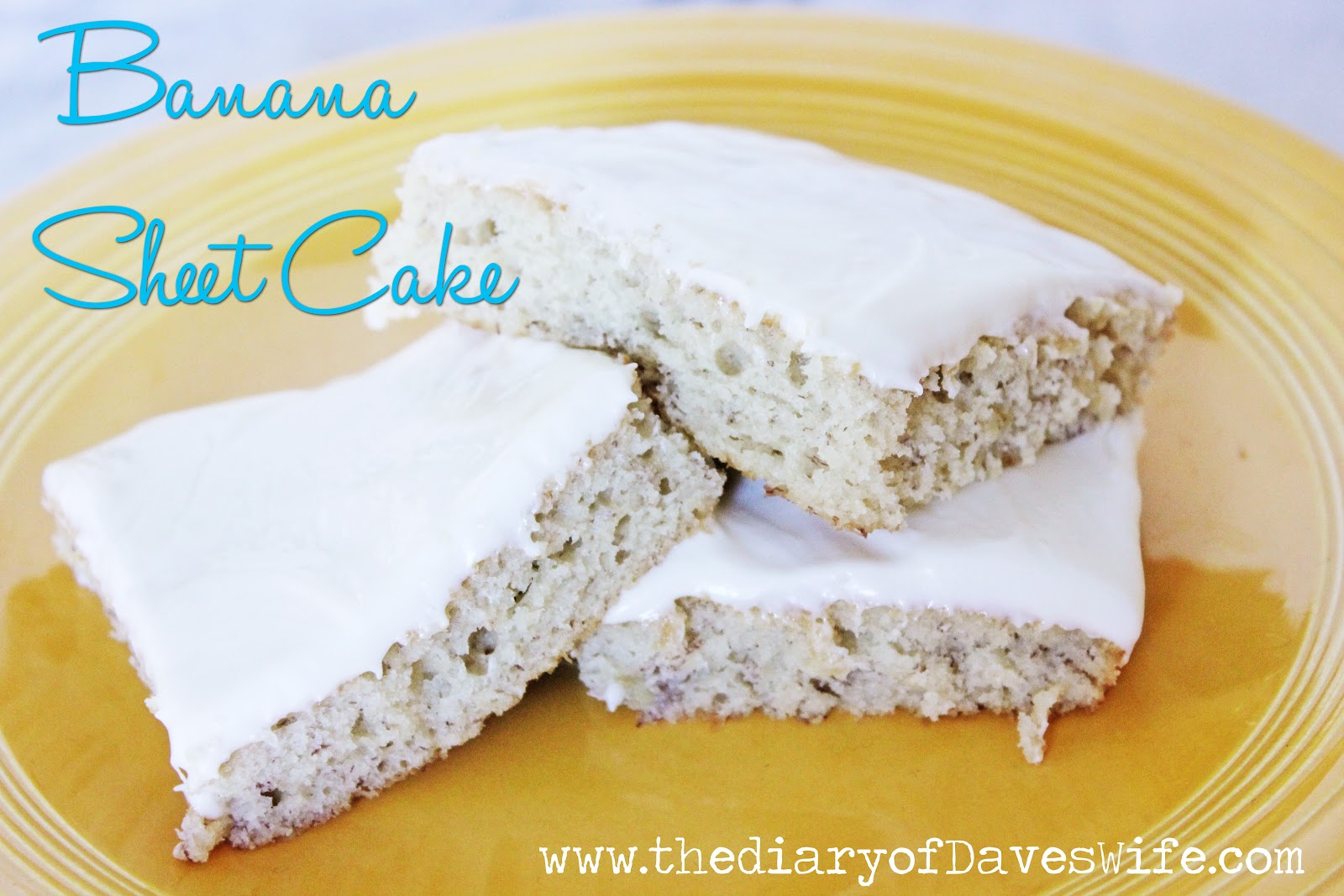 Banana Sheet Cake With Cream Cheese Frosting From Roxanashomebaking ...
