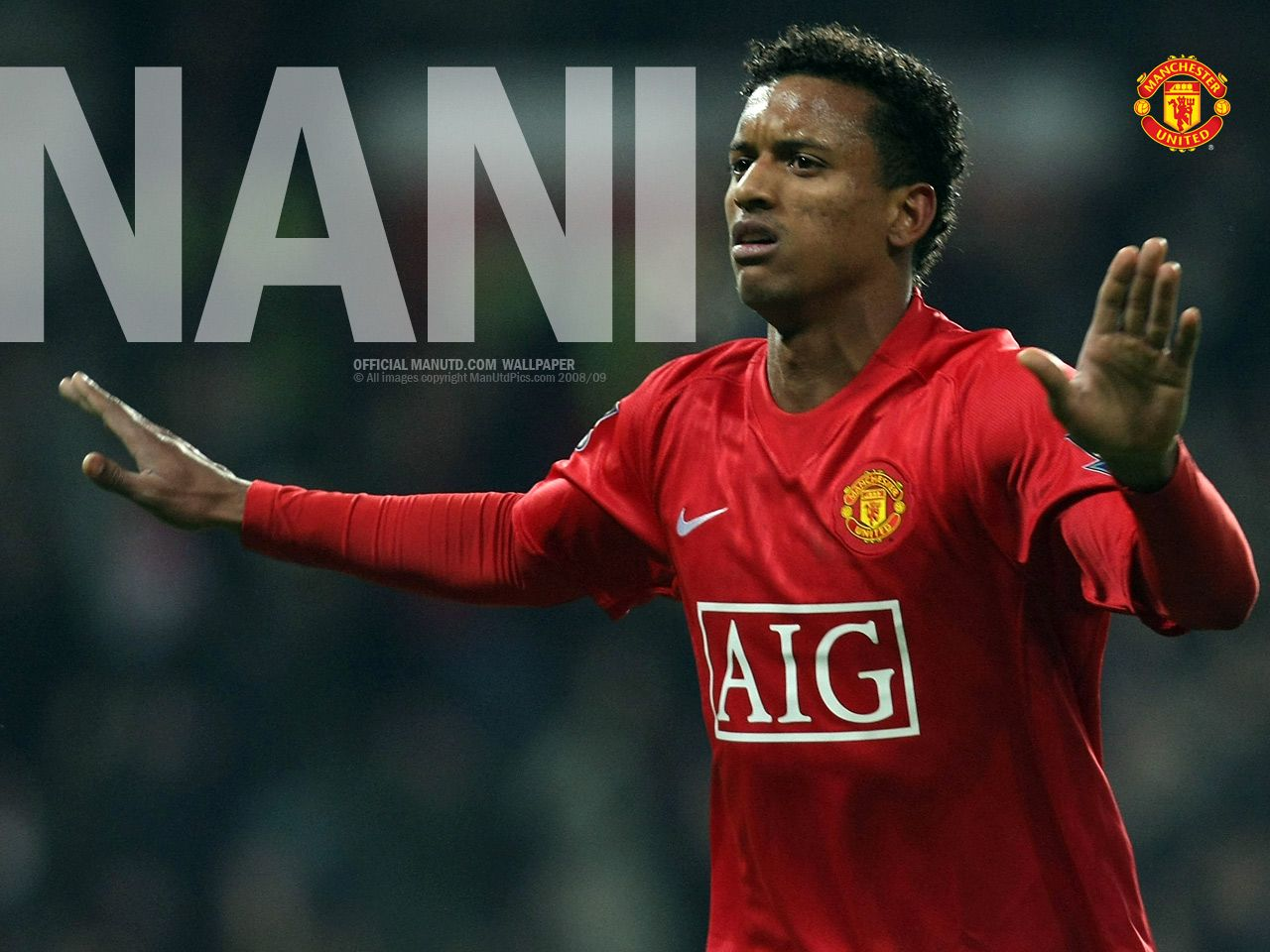 luis nani manchester united wallpaper, portugal winger, united winger, nani 17, ronaldo partner