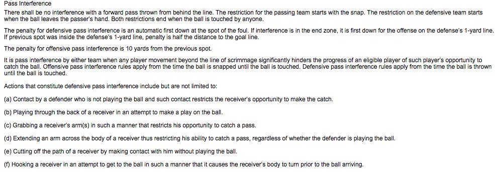 how to improve pass interference