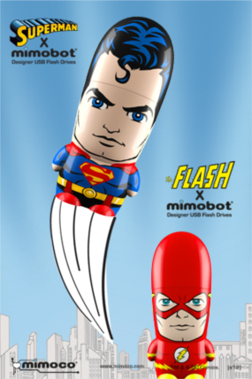 Superman & The Flash DC Comics Mimobot by Mimoco