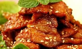 Thịt heo nướng ngũ vị thơm ngon