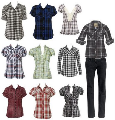 camisas xadrez feminina