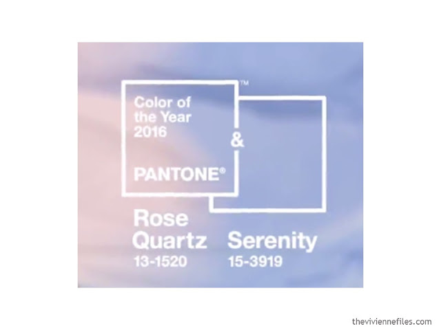 Pantone Color(s) for the year 2016: Rose Quartz and Serenity