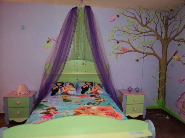 Murales infantiles haditas en el bosque recamara de ana for Murales infantiles nina