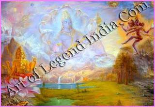 Shiva shooting Brahma