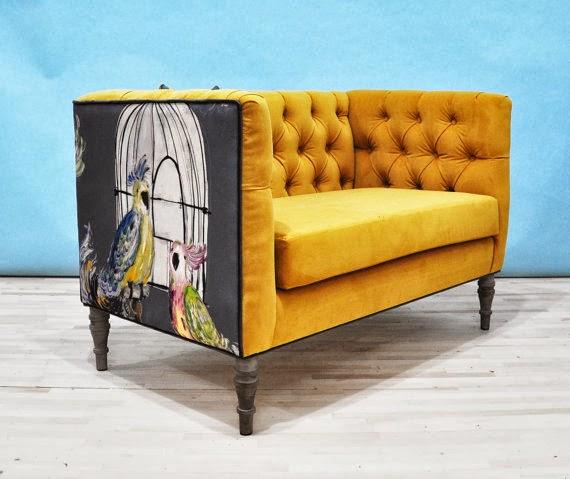 ByElisabethNL: FURNITURE: Beautiful Loveseat In Mustard Color