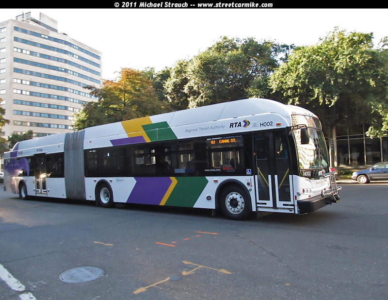 eddie 39 s rail fan page new orleans regional transit authority articulated bus new orleans. Black Bedroom Furniture Sets. Home Design Ideas