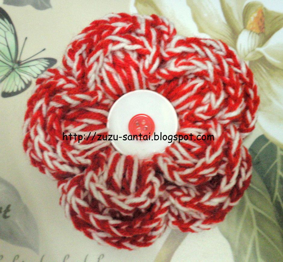 Zuzu Crochet Hair : Combination of 2 colour - Red & White