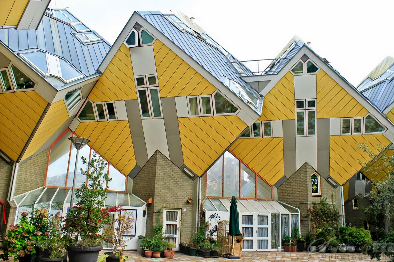 Cube Houses raising from the platform