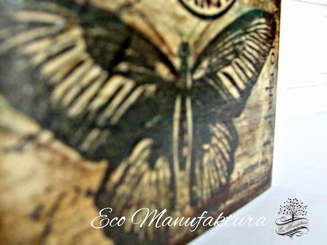 decoupage serwetka  z motylem