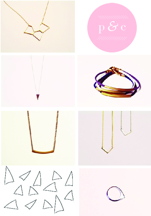 paper and chain, jewellery, chevron