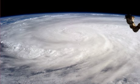 A photo of Typhoon Haiyan