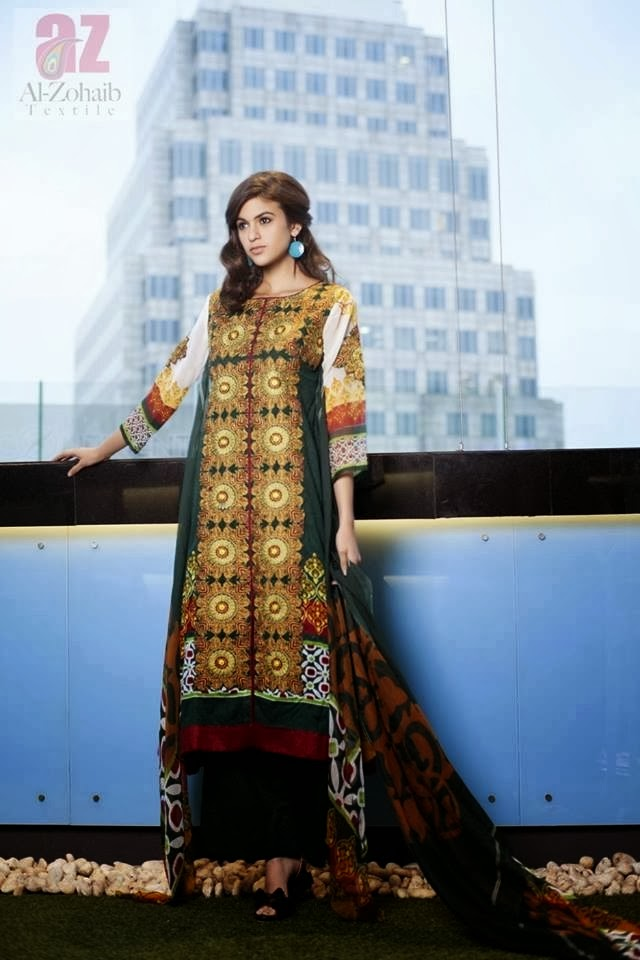 Mahnoor Latest Lawn Collection 2014 Al-Zohaib Textile