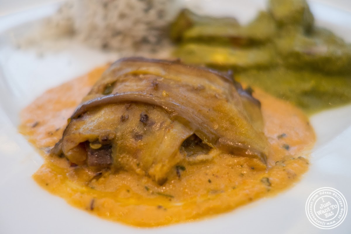 image of potli baingan at Tamarind, Indian cuisine, in Tribeca, NYC, New York