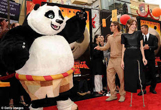 angelina jolie and brad pitt in kung fu panda 2