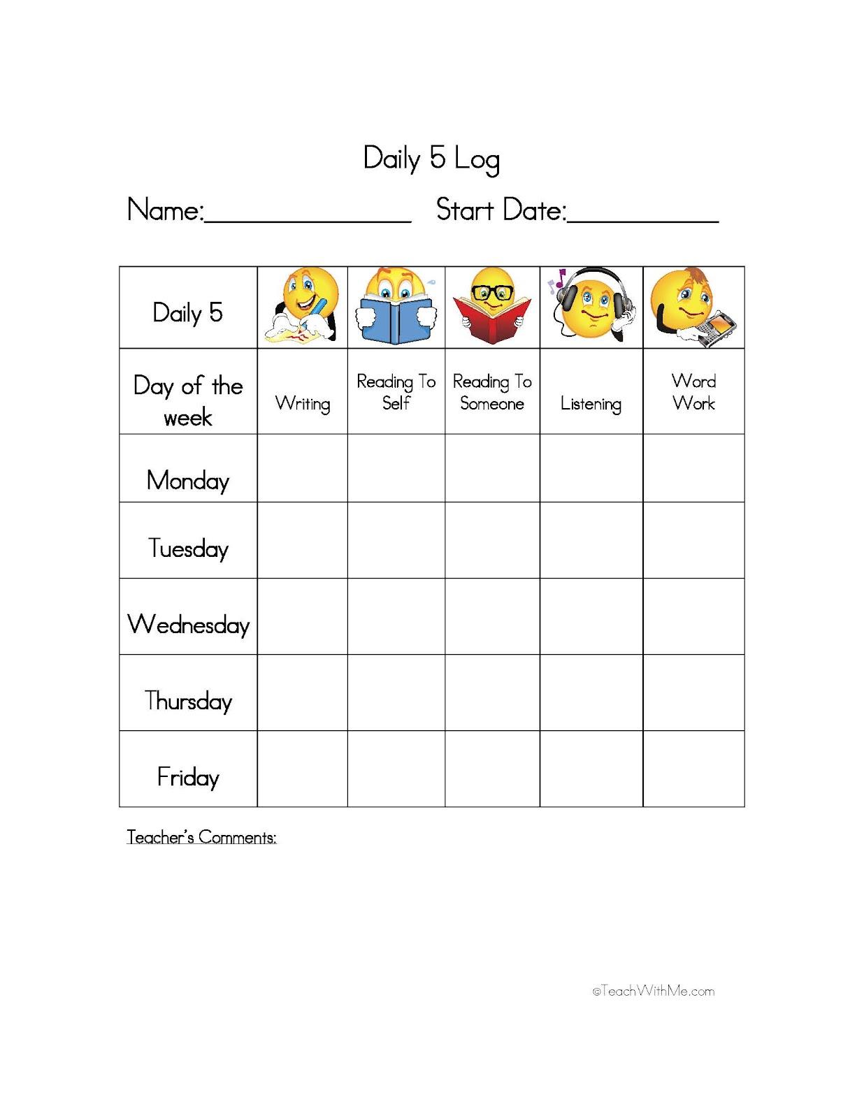 student behavior log template pdf