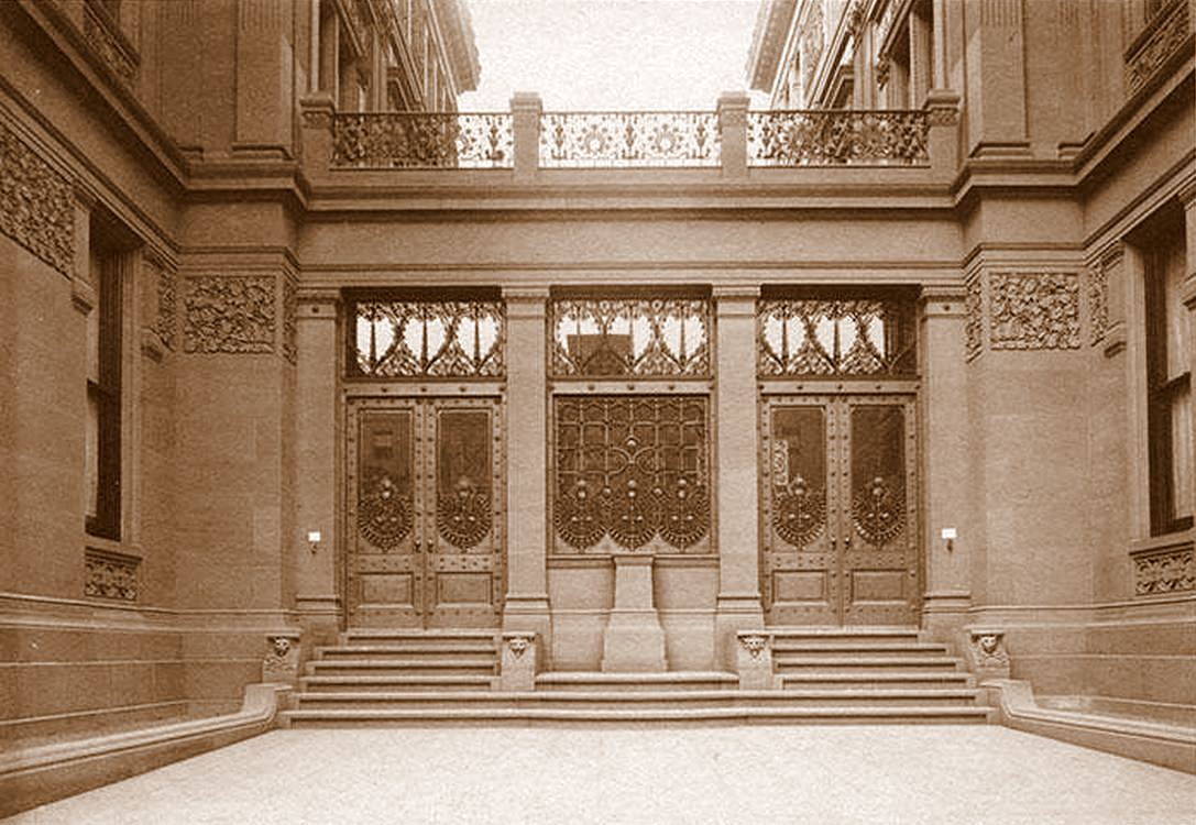 ENTRANCE AND BRONZE DOORS OF THE VANDERBILT HOME & Half Pudding Half Sauce: ENTRANCE AND BRONZE DOORS OF THE VANDERBILT ...