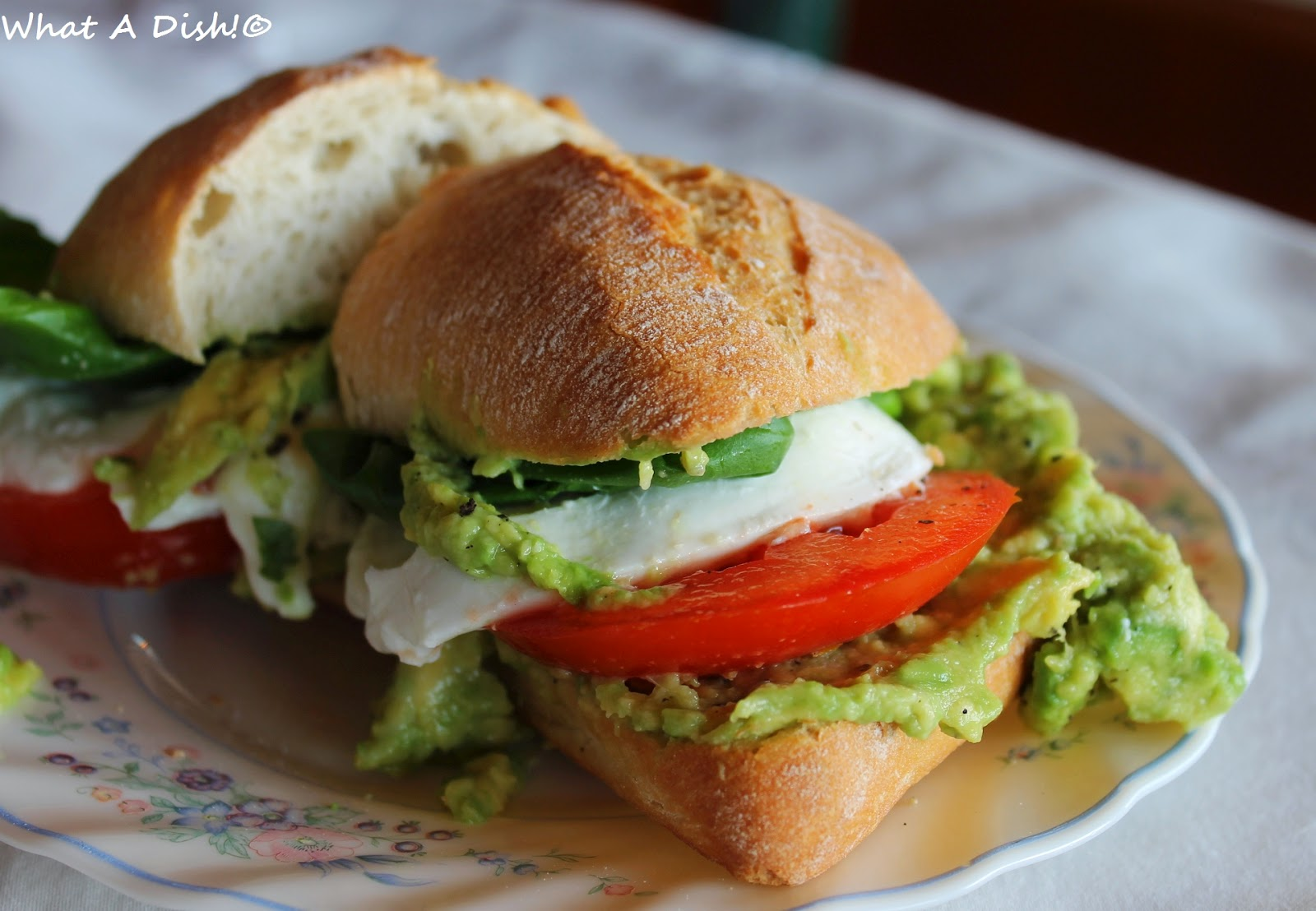 What A Dish!: Mozzacado Sandwich