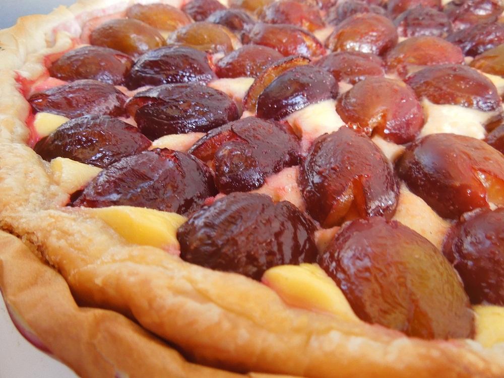 dans mon assiette tarte aux quetsches flan ricotta vanill 233