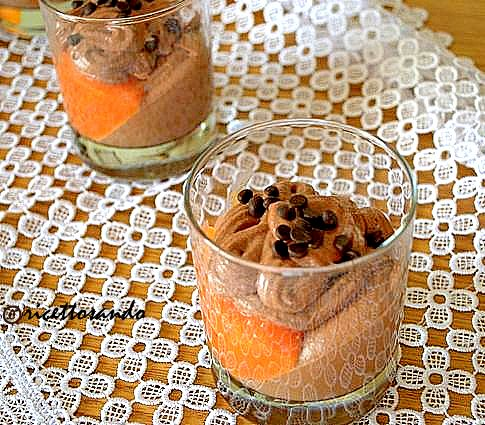 Dessert cioccoarancia ricetta dolce frutta e cioccolato in morbida mousse