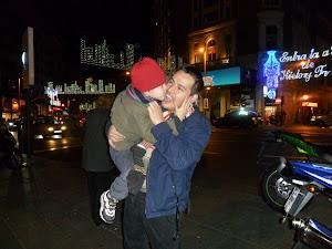 Beso en la navidad con francisco Julian Rotela