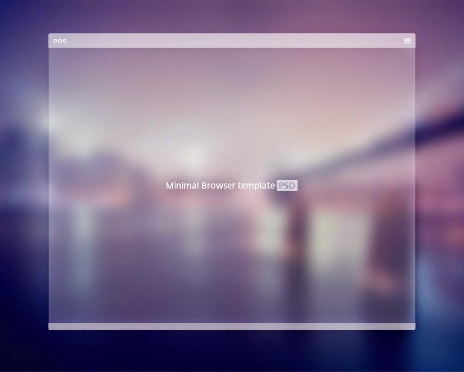Minimal Browser PSD Template