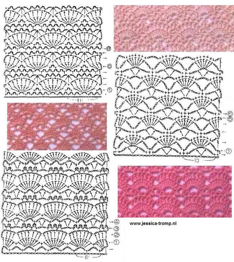 Crochet Stitches With Images : Il blog di Vera Maglia&Uncinetto: tanti schemi punti uncinetto