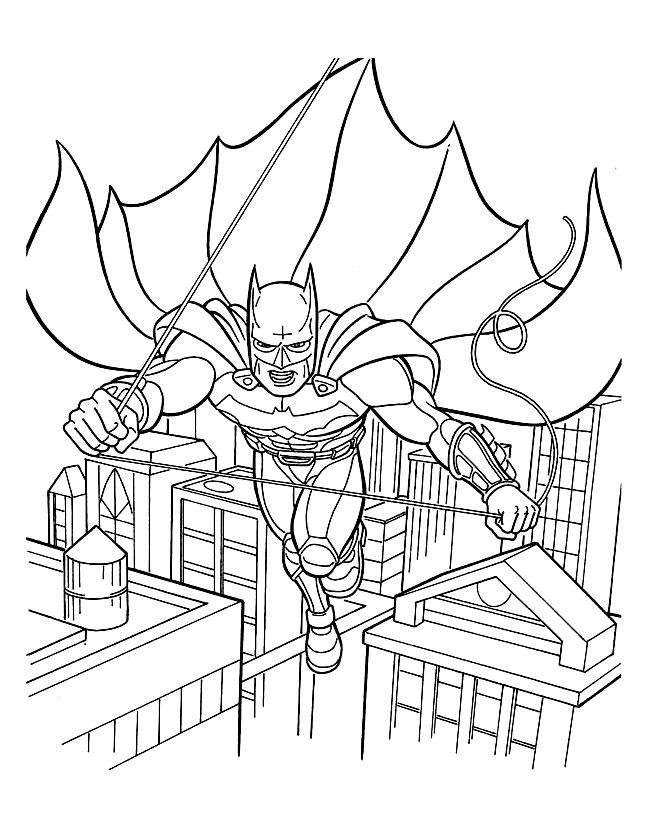 Скачать раскраску человека паука
