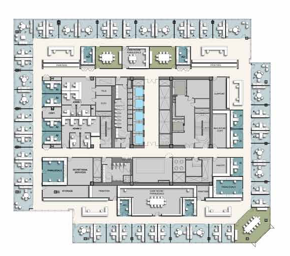 South tower lower floor plan